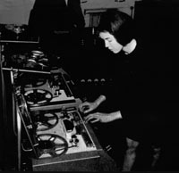 Delia Derbyshire at work